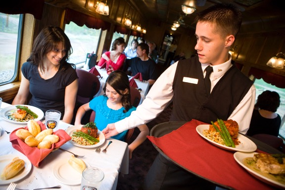 Food Service on The Royal Gorge Route Railroad