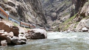 Rafting along the Royal Gorge Route Railroad
