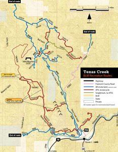 Texas Creek Roads and Trail