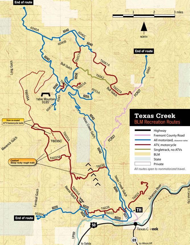 Texas Creek Roads and Trail